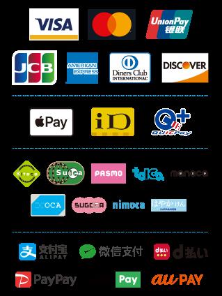 利用可能なクレジット・電子マネー