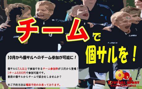 個サルへのチーム参加が可能に!!!